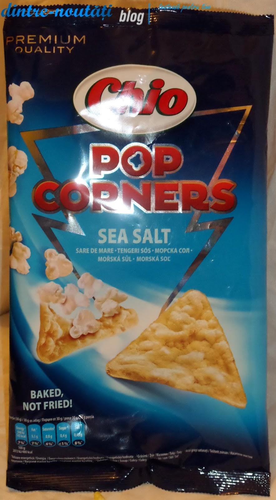Snack expandat din porumb cu sare de mare