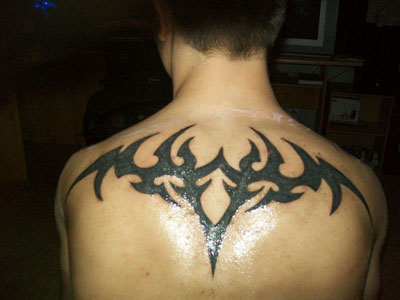 Tribal Tattoos  on Upper Back Tattoos For Men Tribal   Haihata