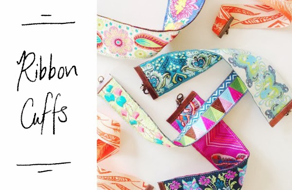Happiness is... DIY Gifts - Ribbon Cuffs
