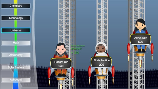 """(CNNMéxico) — Facebook y la NASA quieren retar tus conocimientos sobre astronomía.La Agencia Aeroespacial de Estados Unidos presentó este lunes su primer juego en línea a través de la red social, con el objetivo de divulgar la ciencia y la cultura alrededor del espacio exterior y de la propia agencia. Space Race Blastoff es un juego de preguntas. Cada jugador debe sumar puntos a través de baterías de 10 preguntas de opción múltiple. Con cada avance, los competidores obtendrán placas virtuales que muestran imágenes de astronautas, naves espaciales u objetos astronómicos. """"Esperamos que Space Race Blastoff destapa la historia"""