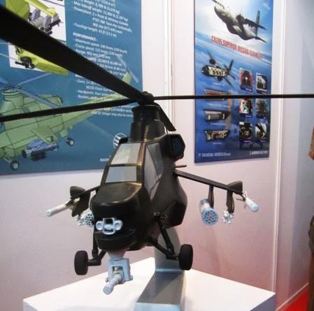 Model Helikopter Serang Gandiwa yang dikembangkan PT Dirgantara Indonesia