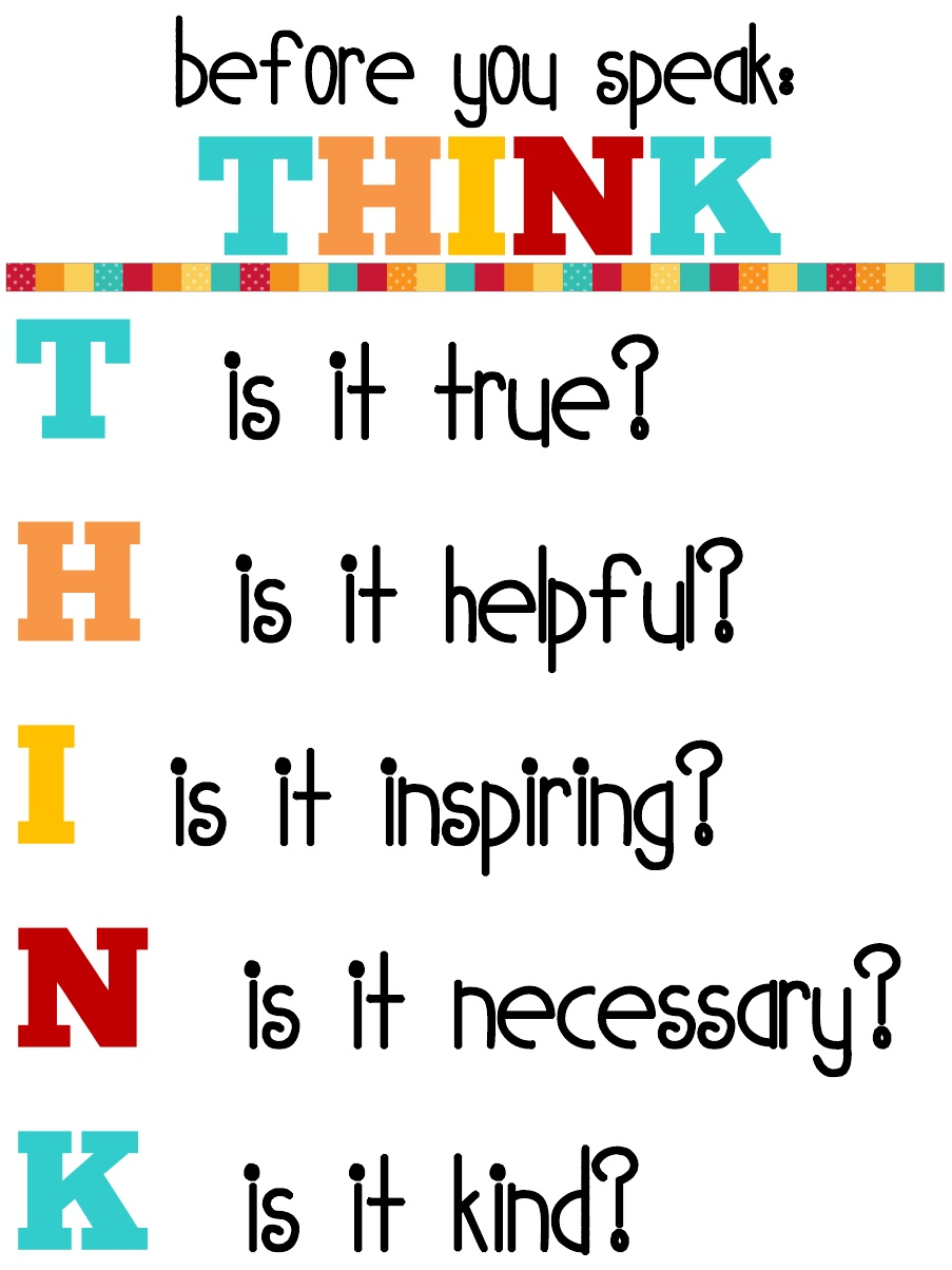 THINK, Before You Speak - A Perfect Thinking Pattern