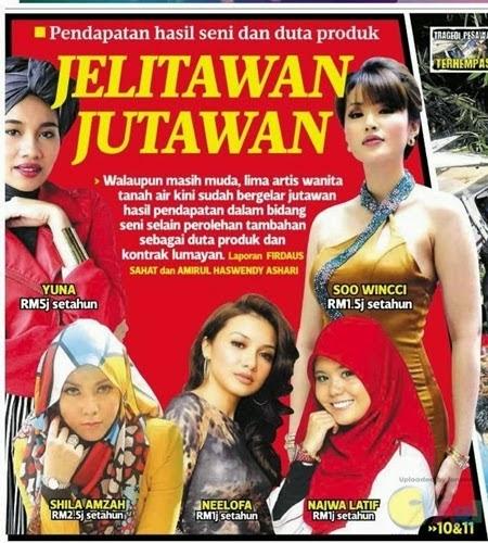 Top 5 Artis Wanita Terkaya Malaysia, info, terkini, hiburan, sensasi,