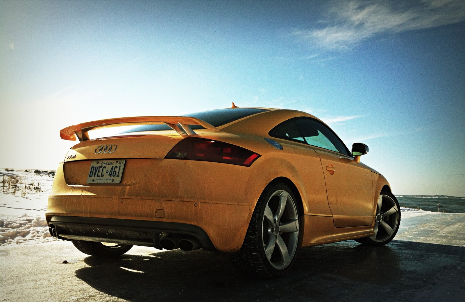 2015 Audi TTS Coupe Competition yellow