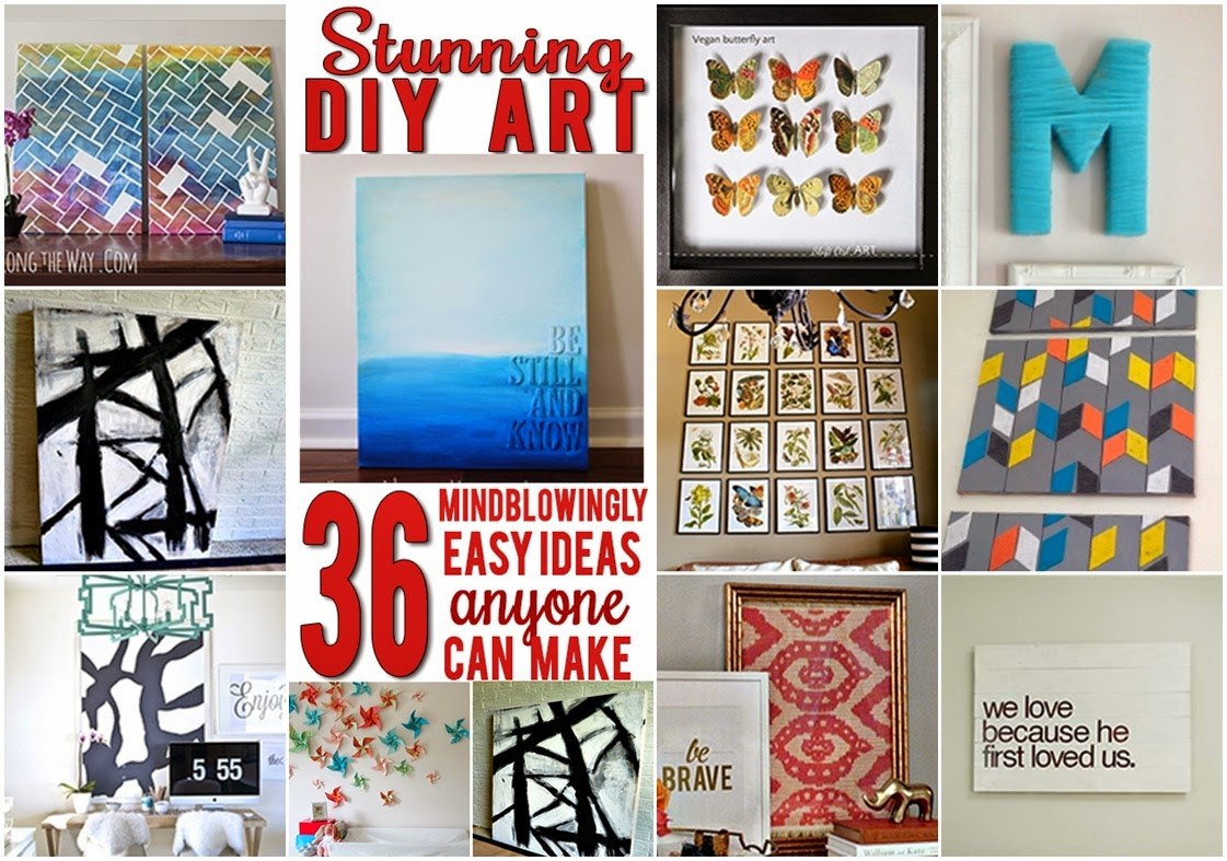Fancy walls on the cheap: 36 easy, beautiful DIY art ideas