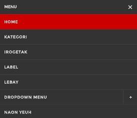 4 Diferentes  menu Blogger responsive