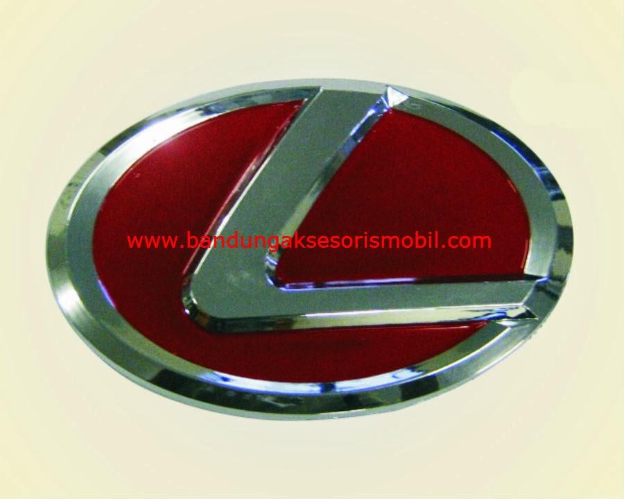 Emblem Logo Bulat Tempel Lexus Merah 12 cm
