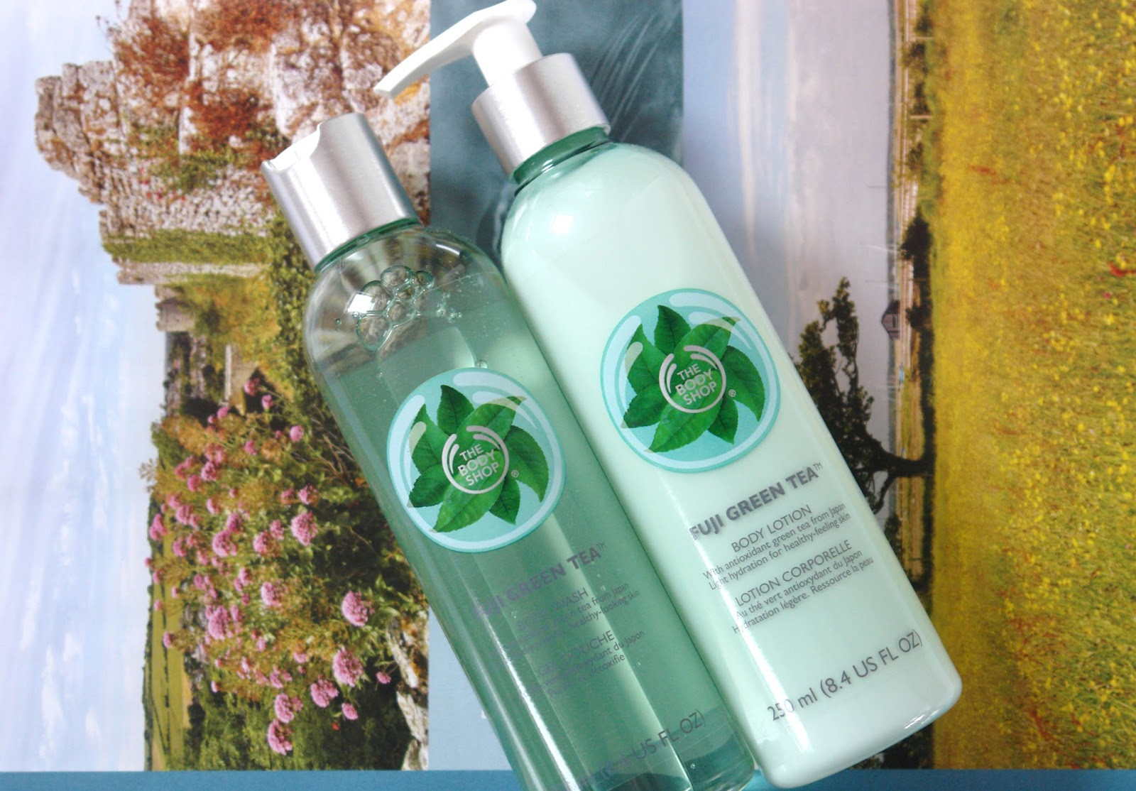 The Body Shop Fuji Green Tea range, Fuji Green Tea Body Wash, Fuji Green Tea Body Lotion, The Body Shop, beauty, review,