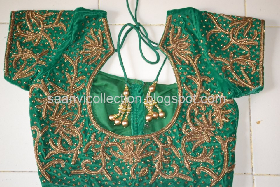 Zardosi Work Designs On Blouses 46