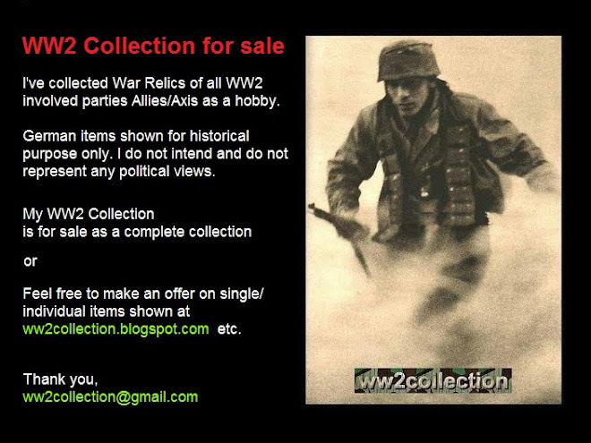 FOR SALE WW2 Collection, German WWII Uniforms and Militaria from my personal War Collection