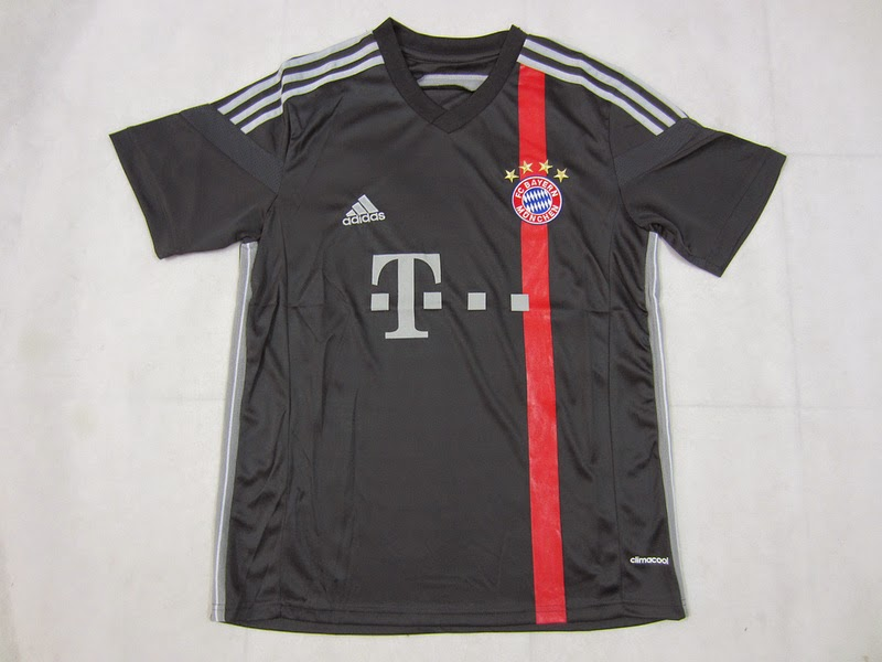 Bayern München Third Soccer Jersey 14-15 Black