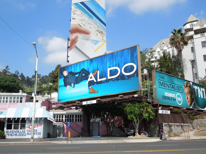 Aldo Shoes denim blue billboard FW 2012