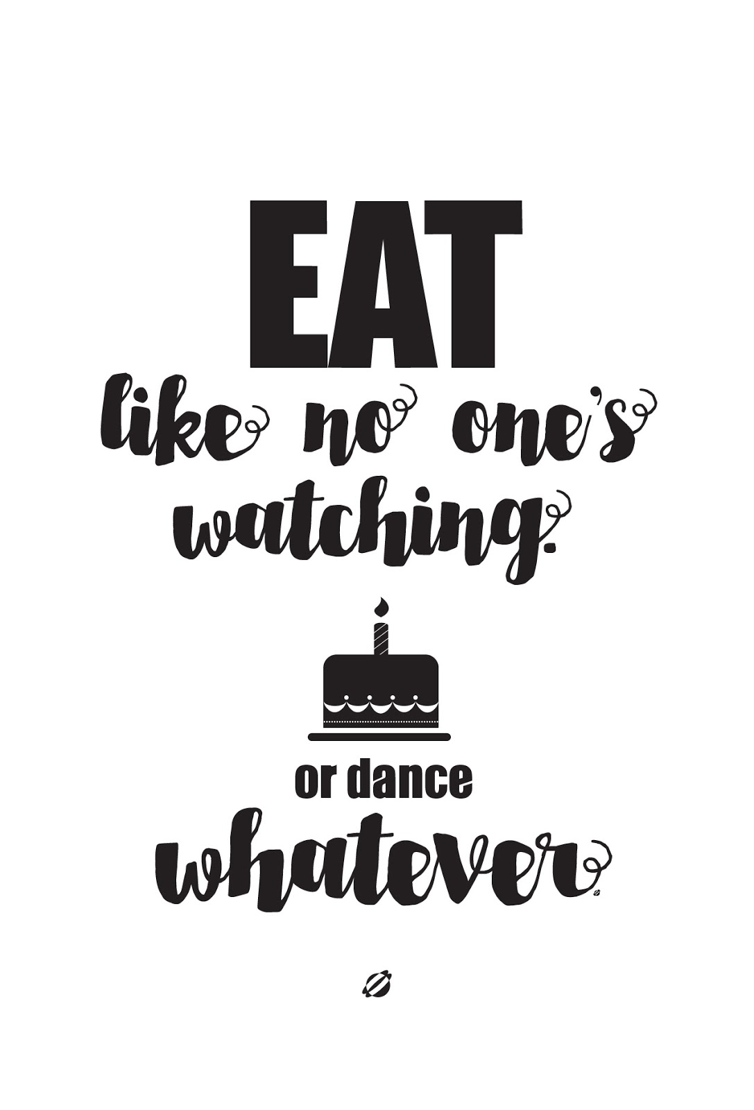 LostBumblebee ©2015 MDBN Eat Like No One is Watching :: Free - Donate to download - Printable :: Personal Use Only.