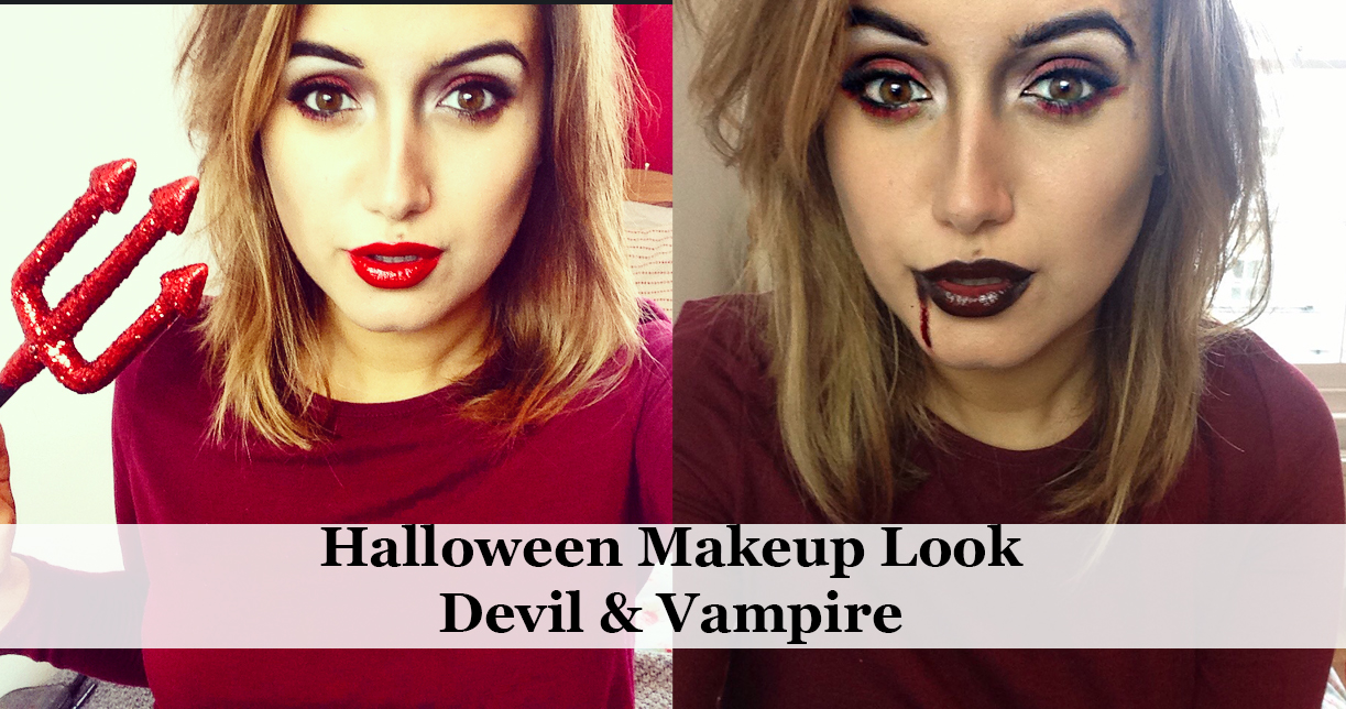 Halloween Makeup Look Vampire Devil A Little Obsessed