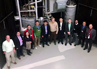 Chinese and American scientists meet at Oak Ridge National Laboratory, scene of the historic molten-salt reactor experiment in the 1960s, to mark their collaboration on next-generation nuclear power. (Image Credit: Oak Ridge National Laboratory) Click to Enlarge.