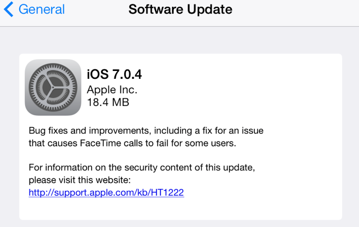Apple iOS 7.0.4 update released to patch Apple Store purchase vulnerability