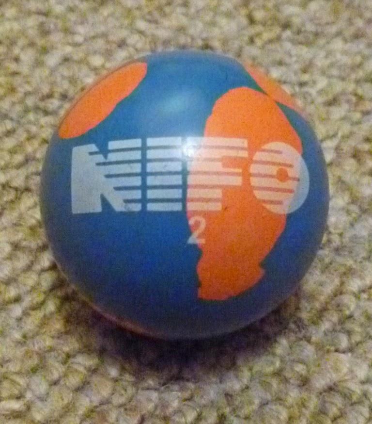 A NIFO 2 minigolf sport ball - a great ball to use on many minigolf lanes (holes). Made by NIFO