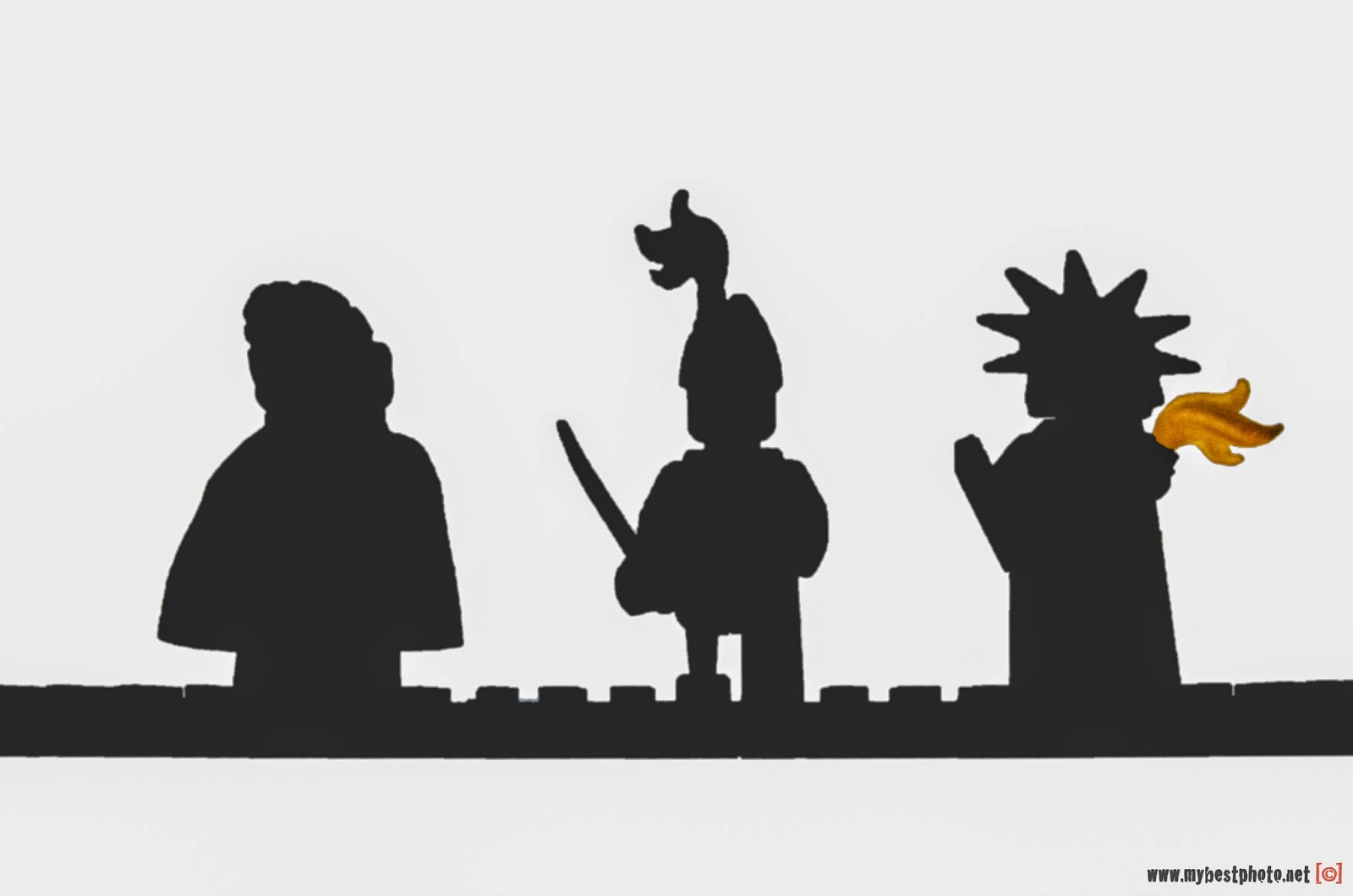 Lego Minifigure Series Silhouette - Wallpaper