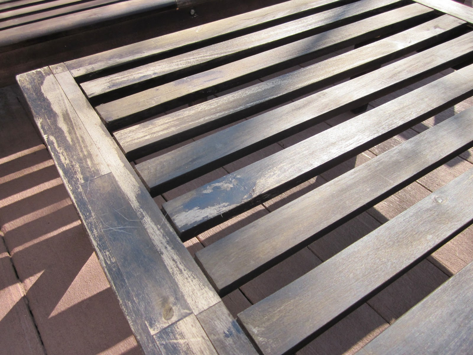 BonnieProjects Refinishing wood patio furniture