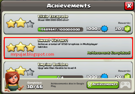 achievements sweet victory coc