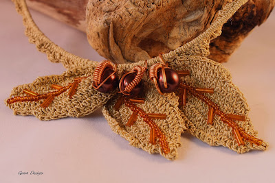 gunadesign Crochet Necklace Autumn Leaves