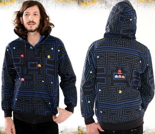 Pac-Man Maze Hoodie Sweater