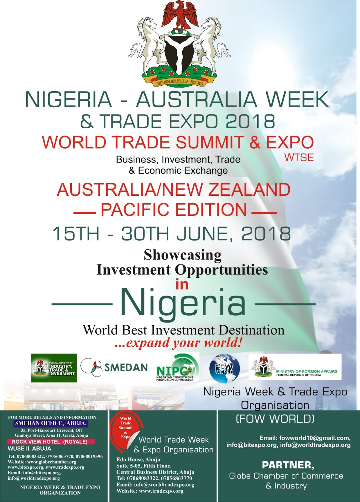 NIGERIA-AUSTRALIA WEEK & TRADE EXPO 2018