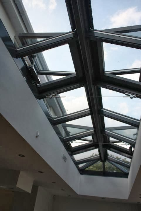 Roof Lantern Automatic opening and closing windows