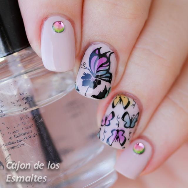 butterflies reverse stamping plate BP34