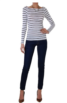 The classic striped long sleeves tee from Humble Chic New York