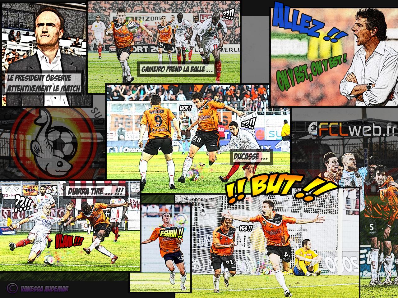 Fond d'écran FC Lorient 2010