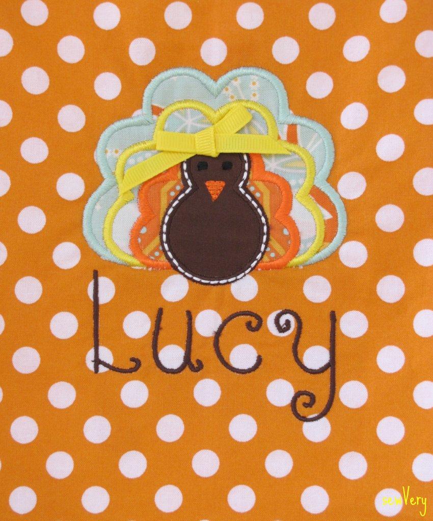 Applique Embroidery Turkey Design