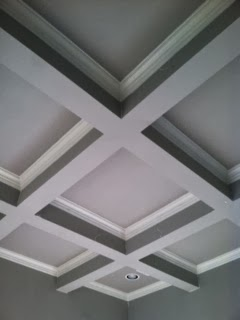 Marie flanigan interiors for Coffered ceiling paint ideas