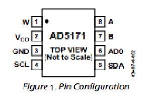 Ad5171 digital potentiometer