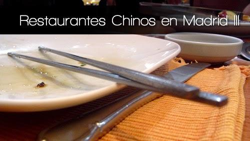 Restaurantes Chinos en Madrid