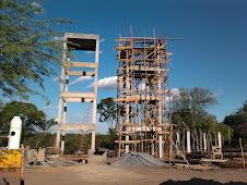 construção das caixas d`água no Povoado de Água Fria