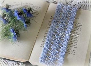 Blue Lace Bookmark, $2.65