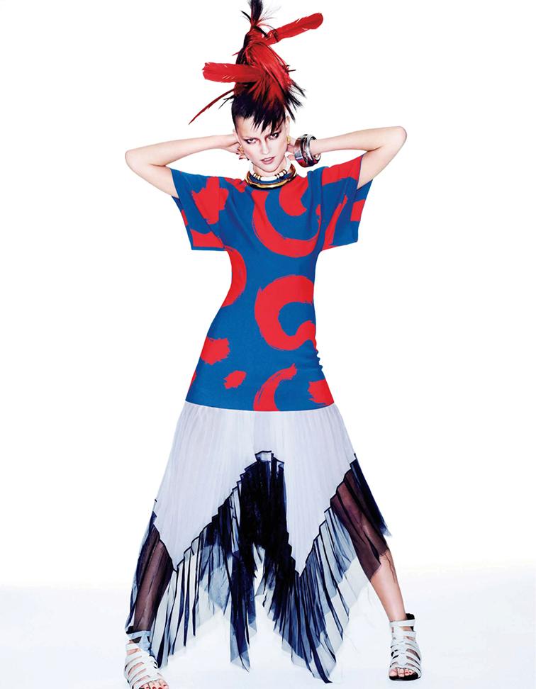 Kasia Struss for Vogue Japan tribal instinct photographed by Matt Irwin styled by Aurora Sansone