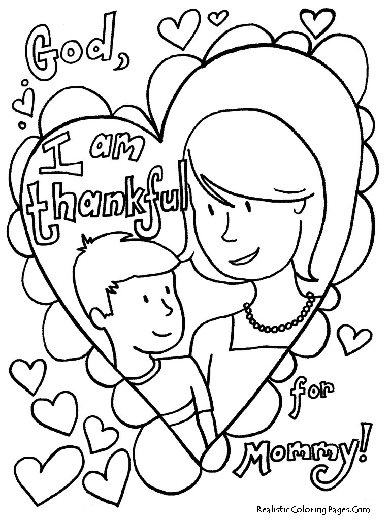 Printable Mothers Day Coloring - 312.4KB