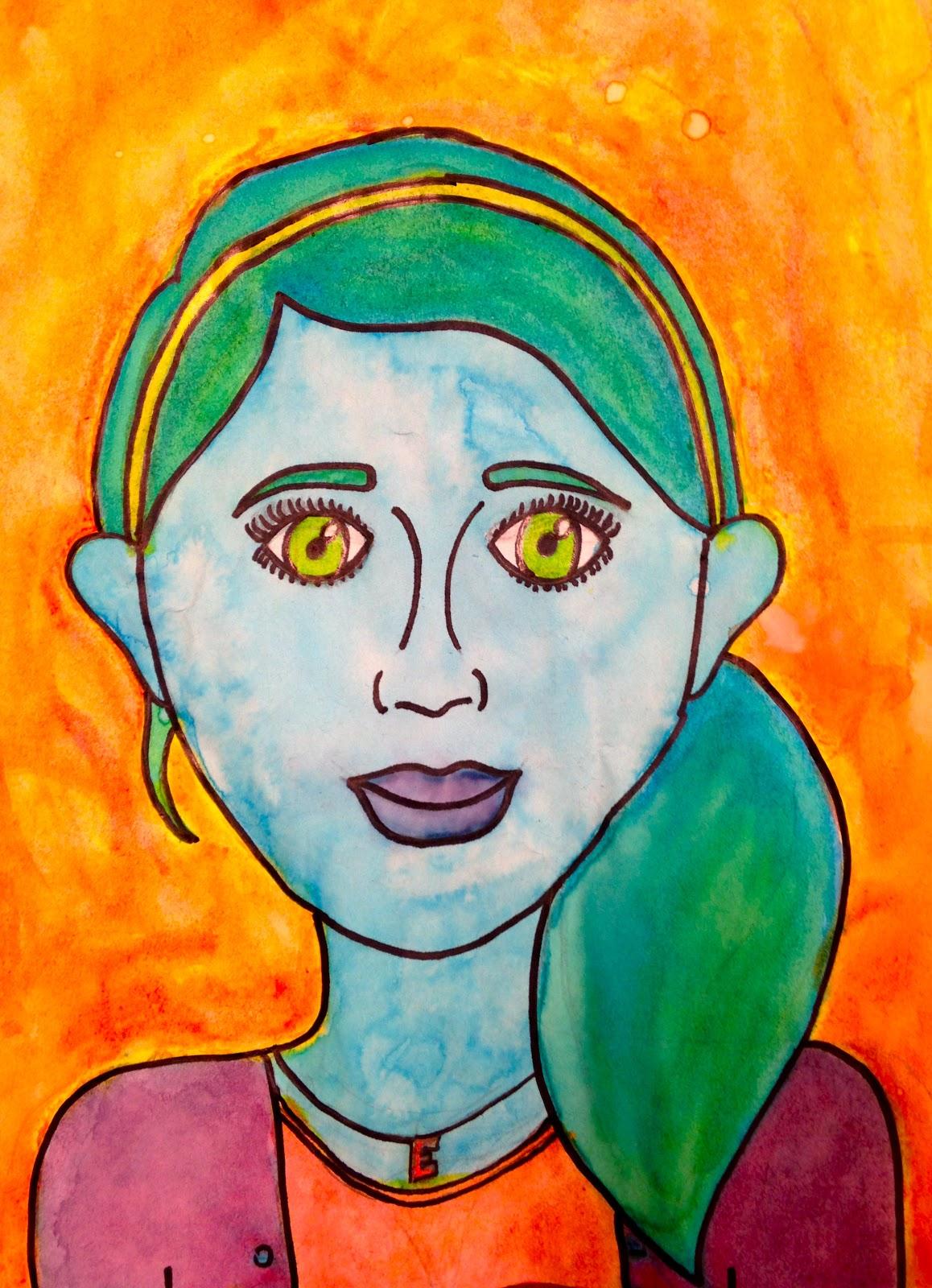 sand creek star gallery 5th grade pop art self portraits. Black Bedroom Furniture Sets. Home Design Ideas