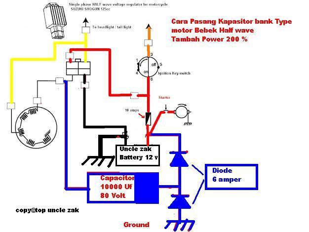 Pasang Kapasitor Bank Super Power Type Paman Zak Model Motor Varian Bebek