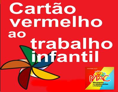 Cartão vermelho ao trabalho infantil