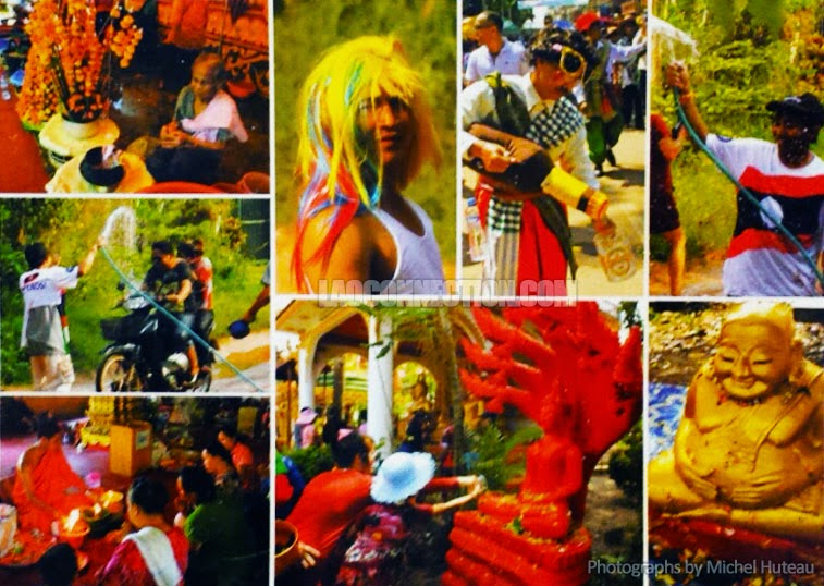 Lao New Year Montage photo by Michel Huteau