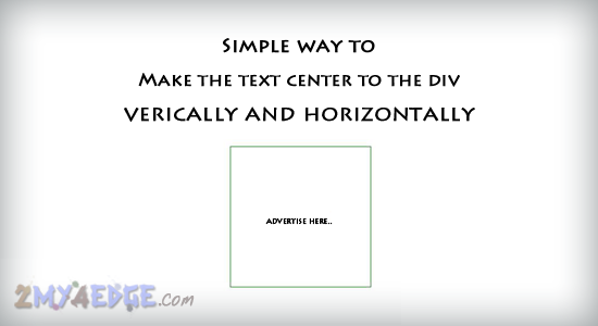Simple way to make text center to the div using css3 2my4edge - Css center absolute div ...
