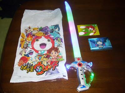 妖怪ウォッチ、夏祭りの夜店 おもちゃの1000円の剣