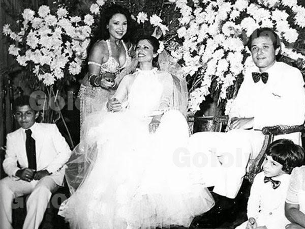 حصريا صور نادرة جدا تجمع محمود عبد العزيز مع زوجتيه الأولى والثانية