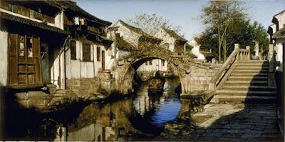 Canales De Zhouzhuang Paisajes Hiperrealistas