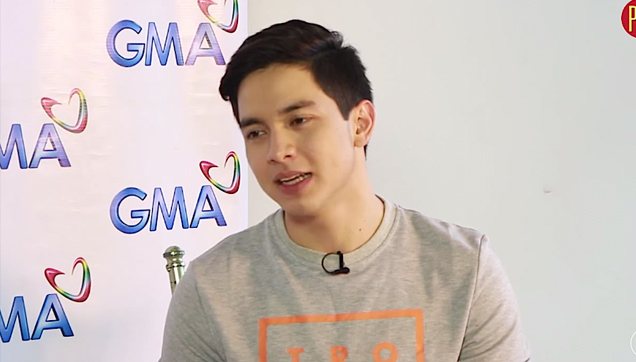 Alden Richards reaction to Candy Fair 2010 photo with Maine Mendoza