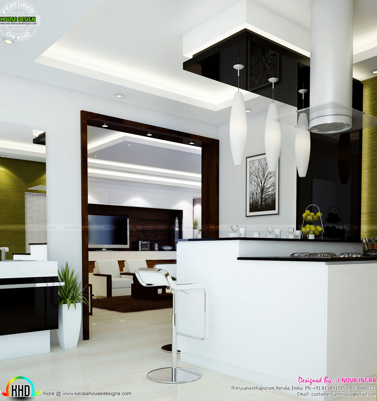 Interior Design Hall And Kitchen: Home Interior Designs By I Nova Infra