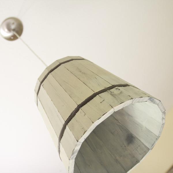 Be Different Act Normal DIY Wooden Bucket Pendant Lighting
